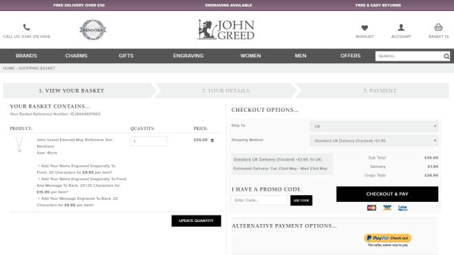John Greed promo code 1