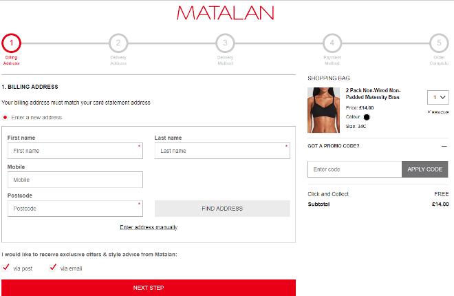 Matalan promo code