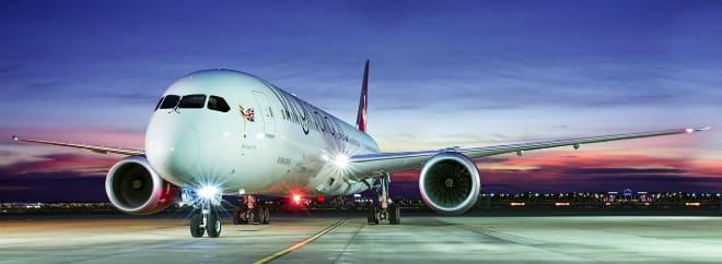 Virgin Atlantic banner Mirror
