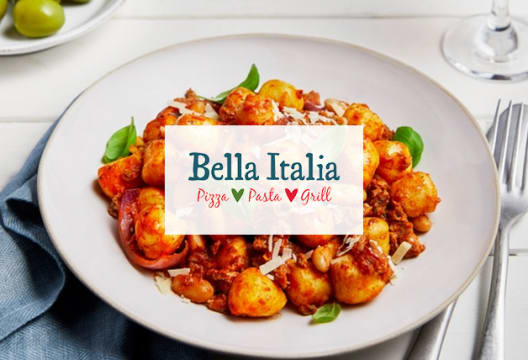 2 for 1 on Starters, Mains & Desserts at Bella Italia
