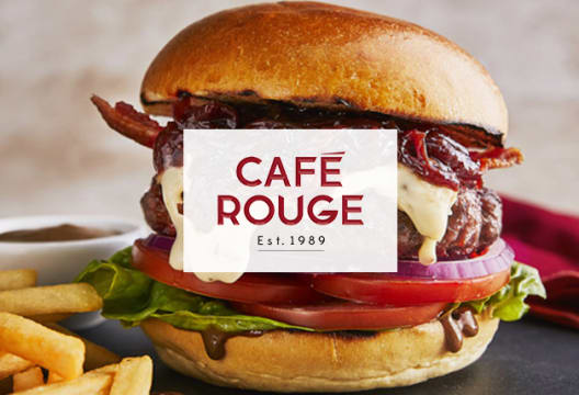 25% Off Food from Monday to Thursday at Café Rouge