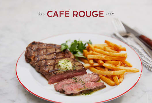 Two or Three Course Meal for Two (Up to 49% Off) at Café Rouge