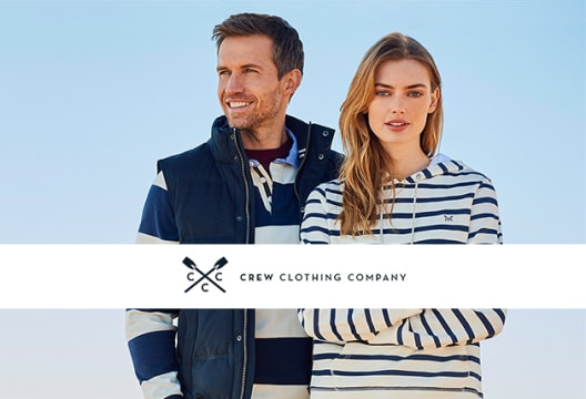 20% Discount on Your First Order + Free Shipping at Crew Clothing