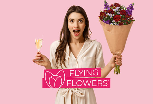 Save and Gain 50% Extra Free with Selected Bouquets at Flying Flowers