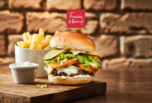 2 for 1 on Starters, Mains & Desserts at Frankie & Benny's