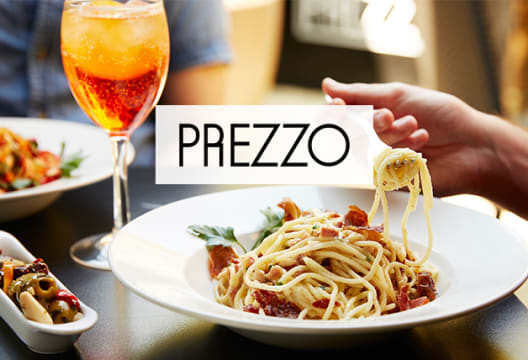 Get 2 for 1 on Starters, Mains & Desserts at Prezzo