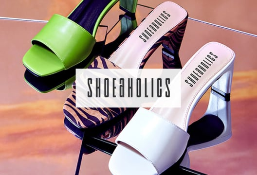 Save up to 65% on Premium Footwear at Shoeaholics